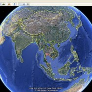 Google Earth turning toward Asia