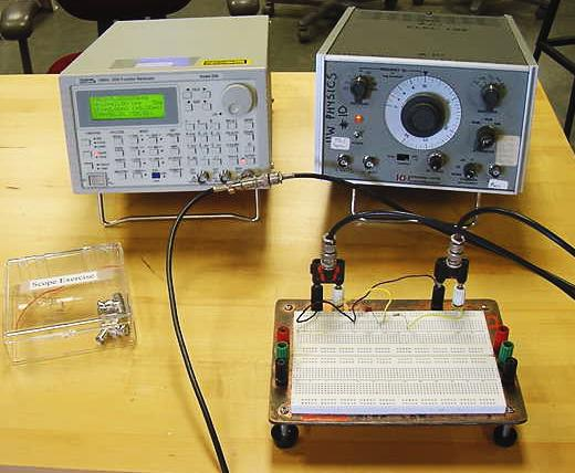 Function Generator And Oscilloscope : Physics oscilloscope and function generator