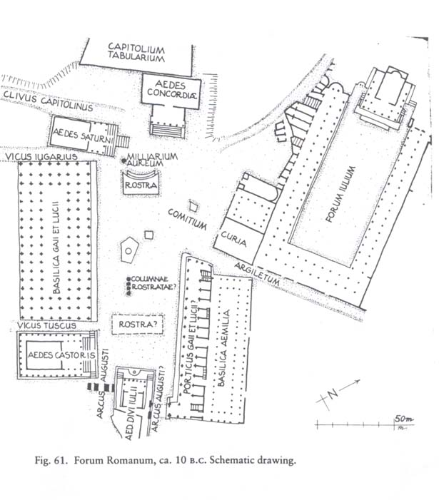 forum romanum map