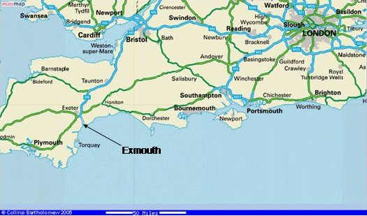 Map Of South Coast Of England  London Map