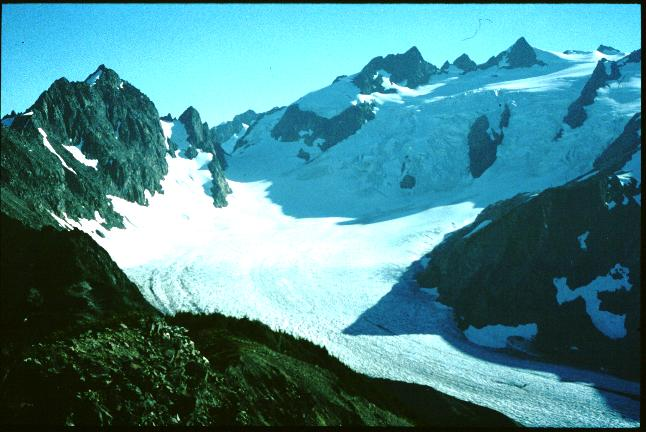 Blue Glacier, Olympic Peninsula, Washington, in September 1995.